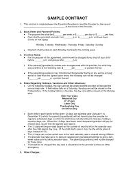 Resume For Daycare Teacher Contract Template Cover Letter Template For Resume For