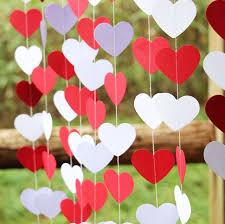 valentines day decor 2pieces lot wedding decoration white heart garland valentines