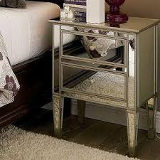 ave six reflections 3 drawer silver accent table