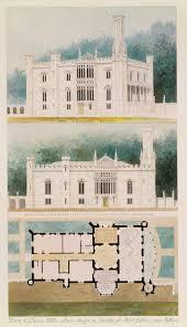 alexander jackson davis 1803 1892 essay heilbrunn timeline glen ellen for robert gilmor towson maryland perspective elevation and plan
