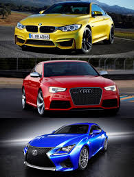lexus isf vs bmw m3 2015 supercoupe design shootout lexus rc f vs bmw m4 vs audi rs5