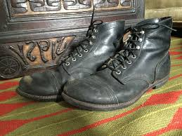 s shoes and boots size 9 wing iron ranger 6 black leather cap toe boots mens size 9 5
