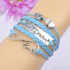 leather necklace wholesale images Wholesale 1d one direction bracelet watch love bracelet wrap charm jpg