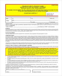 100 liability form template general release forms general
