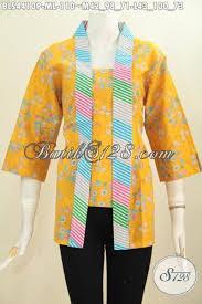 desain baju batik untuk acara resmi jual blus batik kutu baru trendy warna kuning busana batik desain