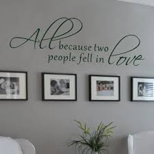 love wall decals roselawnlutheran aliexpress com buy all because two people fell in love wedding decal wall decal