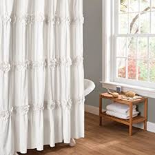 amazon com gee di moda gypsy ruffled shower curtain cream 70