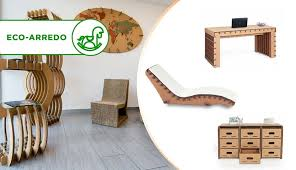 arredo in cartone mobili in cartone ecologico ecodesign cassettiere scrivanie