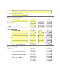 overtime calculator template 10 download free documents in pdf