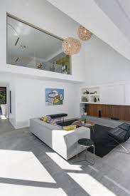 amazing living room interior grey floor and white wall completed