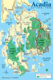 national harbor map acadia national park map cartography map exles