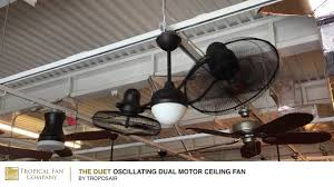 the duet oscillating dual motor ceiling fan by troposair youtube