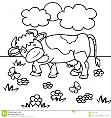 cow coloring book royalty free stock images image 37891739
