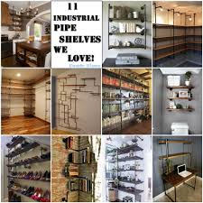 condo blues 11 creative ways to use industrial pipe shelves