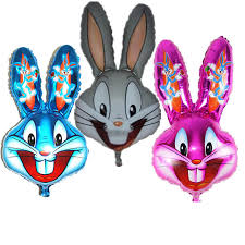 lovely bugs bunny rabbit head foil balloons cartoon looney tunes