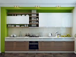 green modern kitchen green white wood kitchen interior design ideas