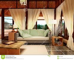 bungalow interior design stock illustration image 48270566
