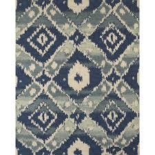 Aztec Area Rug Grand Bazaar Hand Woven Jute Serra Rug In Aztec Blue 8 U0027 X 11 U0027 By