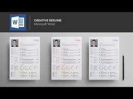Template Resume Microsoft Word Template Resume Ms Word Youtube