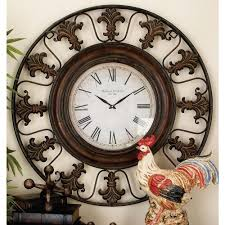 home decorators collection mapa beige distressed wall clock