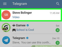 telegram for android how to edit messages on telegram on android 6 steps