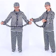 Prisoners Halloween Costumes Buy Halloween Men Jumpsuits Sliver Male Prisoners