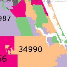 port st fl map st county florida zip code boundary map fl