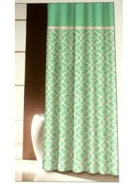 turquoise and brown shower curtain home decoration ideas