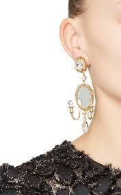 Designer Chandelier Earrings Mirror On The Wall Chandelier Earrings By Dolce Gabbana Moda