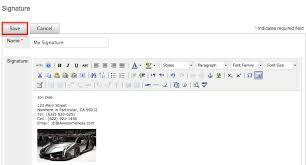 adding an image to email signatures sugarcrm support site