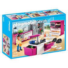cuisine king jouet 5582 cuisine avec îlot playmobil playmobil king jouet playmobil