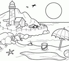 good free beach coloring pages 45 for your drawing with free beach