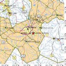 ga zip code map athens ga population data races housing economy