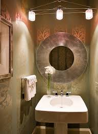Ideas For Small Powder Room - rectangle framed mirror small powder room design ideas white