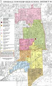 Road Map Of Illinois by Hinsdale Township High District 86