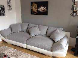 sofa grau weiãÿ big sofa weiß grau