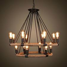 Pendant Lights For Living Room 40w Traditional Vintage Country Painting Metal Pendant Lights