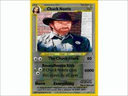 Chuck Norris Pokemon Memes - chuck norris pokemon card youtube
