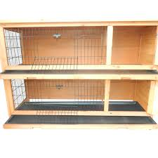 pawhut 2 story stacked wooden outdoor rabbit hutch guinea pig