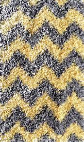 Grey Shaggy Rugs Yellow And Grey Chevron Shaggy Raggy Rug By The Rug Market