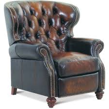 brown leather high leg recliner james river rc willey