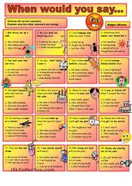 idioms worksheets free worksheets