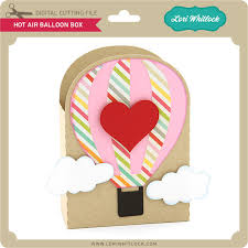 balloon in a box hot air balloon box lori whitlock s svg shop
