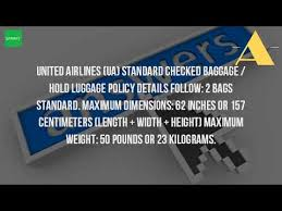 united checked bag what is the baggage weight limit for united international flights