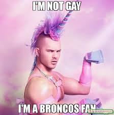 Broncos Fan Meme - i m not gay i m a broncos fan meme