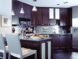 White Glass Tile Backsplash Kitchen by White Glass Tile Backsplash With Dark Cabinets Nyfarms Info
