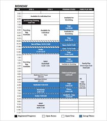 program schedule templates u2013 12 free word excel pdf format