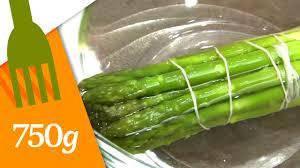 cuisiner asperges cuire des asperges vertes en botte 750 grammes