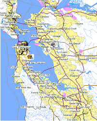 map of san francisco area map of san francisco california bay area
