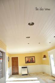 White Wood Ceiling by How To Diy A Wood Planked Ceiling Construction Haven Home